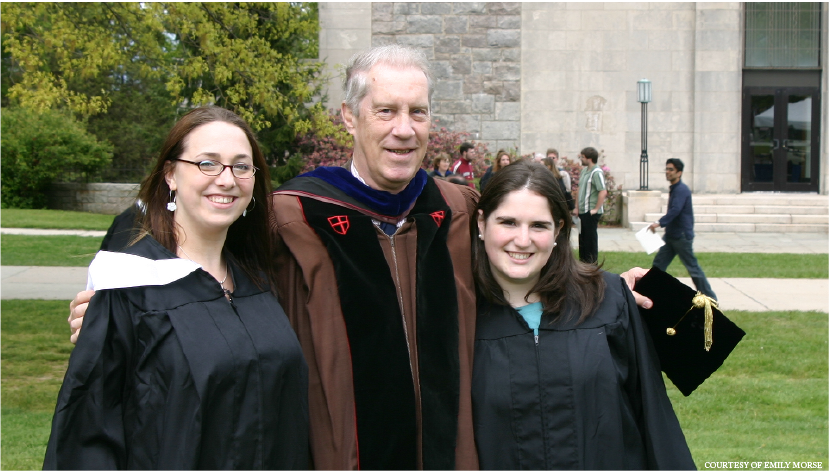 Emily Morse '05, Dirk Held and Emily Huebscher Meyer '05.