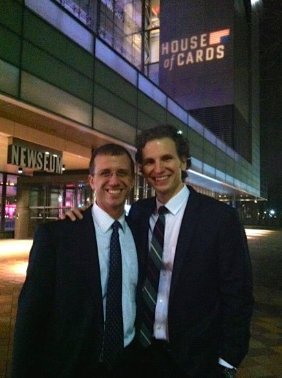 The Arcelus brothers at the House of Cards premier